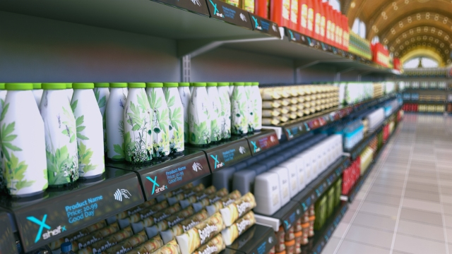 NFC enabled supermarket shelves